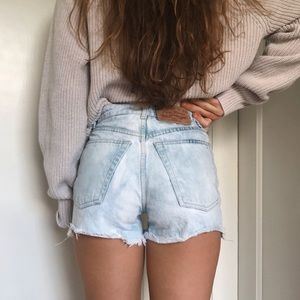90s vibe vintage high-waisted shorts